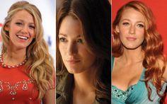 Blake Lively é conhecida por seu cabelo loiro de Serena van der Woodsen! Mas já apareceu ruiva e morena durante a divulgação e filmagens, respectivamente, de Lanterna Verde. Linda com qualquer cor!