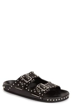 GIVENCHY Studded Double Band Slide Sandal (Men). #givenchy #shoes #sandals