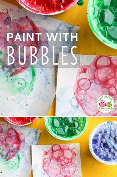 fall art projects for kids Bubble painting is one of the most fun process art activities for kids. You might be blown away with the results. Are you looking for some new art ac Bubble Activities, Art Activities For Kids, Color Activities, Preschool Crafts, Art For Kids, Art Project For Kids, Fun Projects For Kids, Summer Activities, Bubble Painting