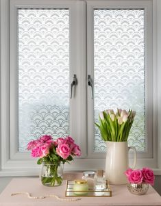 Gatsby, Decorative Window Film & Frosted & Decorative Window Film from Brume Ltd Gatsby, Window Glass Design, Art Deco Bathroom, Downstairs Bathroom, Glamorous Bathroom, Bathroom Window Treatments, Deco Font, Art Gallery Wedding, Homemade Black