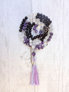 Pin It! The Amethyst Dream Mala - Mala Kamala Mala Beads - Boho Malas, Mala Beads, Yoga Jewelry, Meditation Jewelry, Mala Necklaces and Bracelets, Childrens Malas, Bohemian Jewelry and Baby Necklaces