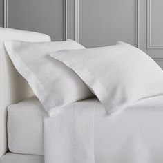 Chambers® Washed Linen Solid Pillowcase, Set of King, Grey Linen Bed Sheets, Linen Bedroom, White Sheets, Linen Bedding, Bed Linens, Best Sheet Sets, Best Sheets, King Sheet Sets, Bedding Sets Online