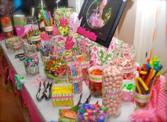 Gabby's first candy buffet bar party