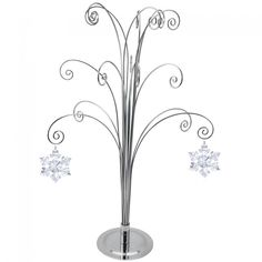 HOHIYA for Swarovski 2018 Annual Christmas Crystal Snowflake Ball Angel Star Ornament Stand Home Party Gift Decorations Chrome ** Click picture for even more details. (This is an affiliate link). Swarovski Christmas Ornaments, Wire Ornaments, Snowflake Ornaments, Star Ornament, Hanging Ornaments, Holiday Ornaments, Tree Jewelry Holder, Crystal Snowflakes, Swarovski Snowflake