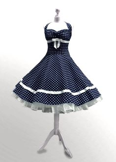 Dresses – Dress sugar sweet petticoat dress to fall in love – a unique product by myrockabillymode on DaWanda - All About 50 Style Dresses, 50s Dresses, Dance Dresses, Vintage Dresses, Dress Outfits, Vintage Outfits, Fashion Dresses, Karneval Outfit, Mode Ab 50
