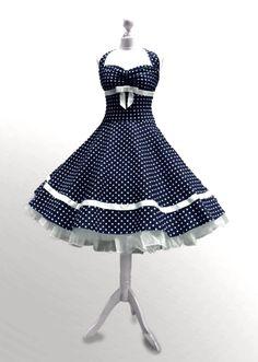 Kleider - Kleid zuckersüsses Petticoatkleid zum verlieben - ein Designerstück von myrockabillymode bei DaWanda