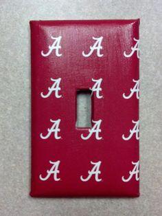 University of Alabama Switch Plate - Crimson Tide. $6.95, via Etsy.