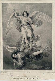 La caída de Luzbel. Sensi y Baldachi, Gaspar 1794-1880 — Grabado — 1840?