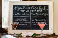His and hers signature drinks | www.southernbrideandgroom.com | Photos by @reneesprink