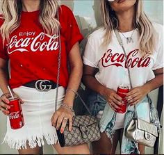 coca cola Colours :- white black grey maroon navy blue ( S - xxxl) Red, yellow ( S - xxl ) Vans :- black white grey maroon navy blue ( S - xxxl ) Yellow ( S - xxl ) Price :- 280 + shipping Summer Outfits, Casual Outfits, Cute Outfits, Coca Cola Shirt, Look Fashion, Fashion Outfits, Teenager Outfits, Vintage Shirts, Shirt Outfit