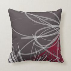 Grey & Burgundy Wine Abstract Ribbon Design Throw Pillow - tap/click to get yours right now! #ThrowPillow #gray #burgundy #wine #modern #elegant Burgundy Walls, Burgundy Living Room, Burgundy Wine, Modern Throw Pillows, Sofa Throw Pillows, Decorative Throw Pillows, Accent Pillows, Couch, Dark Grey Background