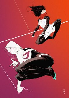 Spider-Gwen and Silk by Dima Ivanov *