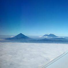 Volcanes de Guate desde las alturas