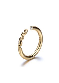 Mini Drill Bit Ring-Gold | Side Note: | NOT JUST A LABEL