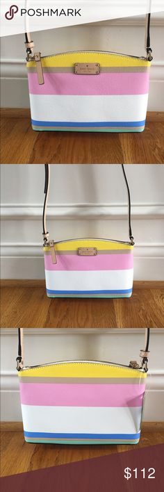 ❗️SALE❗️$199 Kate Spade Crossbody New with tags $199 Kate Spade Millie crossbody in grove street in dunestripe // brand new, perfect condition, never worn before. kate spade Bags Crossbody Bags