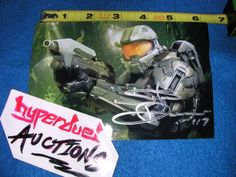 HALO 4 Master Chief STEVE DOWNES SIGNED AUTOGRAPHED 4x6 PHOTO X360 XBox One #D - http://video-games.goshoppins.com/video-gaming-merchandise/halo-4-master-chief-steve-downes-signed-autographed-4x6-photo-x360-xbox-one-d/