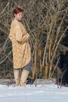 Oversized Mantel Cardigan in Gelb, Leichte Sommermantel,Moderne Frühlingsmantel,Asymmetrical Spring Coat,Boho Mantel,Jacken & Manteln,Kleid von RoteTulpe auf Etsy Made to Order www.rotetulpe.de Fair Fashion