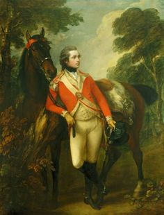 """""""John Hayes St Leger"""" by Thomas Gainsborough (1782) in the Royal Collection, UK - From the curators' comments: """"St Leger rose up the military ranks and was made a Colonel in 1793. He was promoted to Major General in 1795 and died in India commanding the 80th Regiment of Foot. He was a great companion of the Prince of Wales, who described him as 'one of ye best fellows yt. ever lived'."""""""