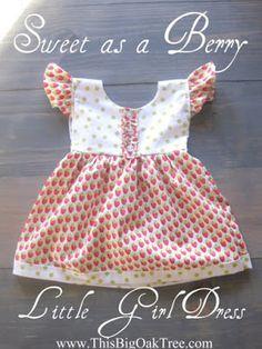 Sweet as a Berry Little Girl Dress {tutorial}