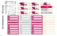 She's A Lady, Happy Planner weekly sticker kit. 5 sheets in kit on matte removable sticker paper. Kiss cut, just peel and stick.