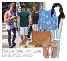 """""""REQUESTED: Double date with Luke, Louis and Eleanor"""" by style-with-one-direction ❤ liked on Polyvore featuring Topshop, Henri Bendel, Sole Society, Ray-Ban, women's clothing, women's fashion, women, female, woman and misses"""