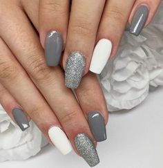 Nail art Christmas - the festive spirit on the nails. Over 70 creative ideas and tutorials - My Nails Acrylic Nails Coffin Short, Simple Acrylic Nails, Summer Acrylic Nails, Best Acrylic Nails, Coffin Nails, Square Acrylic Nails, Summer Nails, Aycrlic Nails, Swag Nails