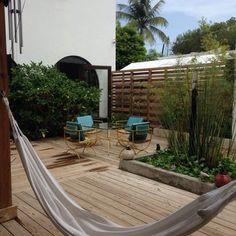 Yoga & hammock nap at Dream Catcher Guest House, San Juan PR