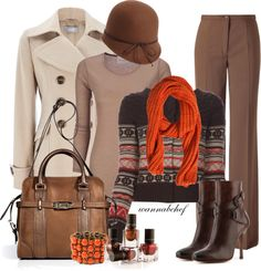 """Mocha Orange"" by wannabchef on Polyvore"