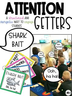 Grab your students' attention with these attention getters. Your class will love these structured and energetic signals.
