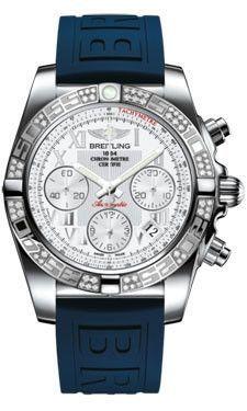 Breitling Chronomat 41 Steel Diamond Bezel Diver Pro III Strap Tang AB0140AA/A747