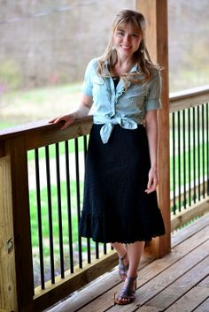 Fresh Modesty: 1 Button-Down | 3 Days | 3 Ways ~ Day 3... List of other Modest bloggers, too.