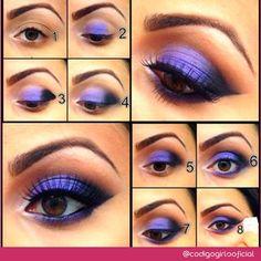 Mais uma variação de make roxinha para você ficar bem gata! #DicaDeMake #MakeRoxa #CódigoGirls  www.codigogirls.com.br @codigogirlsoficial