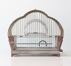 Vintage Hendryx Birdcage Art Deco by bellalulu on Etsy