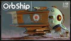 Dieselpunk: Orb Ship model kit box _ _ Looks more like an atom punk to me but who am I to judge :)