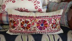 A clever mix of worldwide textiles and pillows https://www.facebook.com/pages/Acapillow-Home-Furnishings/107146999314784