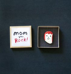 Rock portraits - The perfect kid made gift for mother's day, teacher appreciate gifts or just playing with