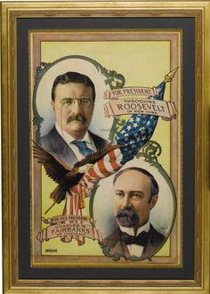 Teddy Roosevelt/Charles Fairbanks poster, 1904