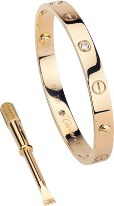 Yellow gold, diamonds. Cartier LOVE bracelet