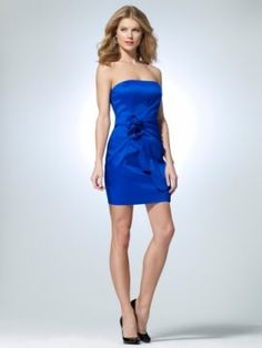 Royal Strapless taffeta dress with scalloped edge faux wrap [#O5070J22954606] - $168.00 : Crazeparty.com, Dare to be Different!