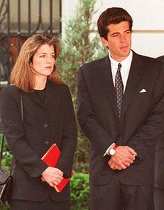 Caroline and JFK Jr. Waiting for their mother's casket outside her NY apartment. 19May 1994