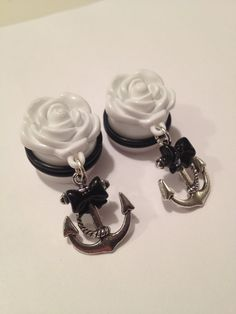 Pick sizes Day of the dead sugar skull lolita Rockabilly Psychobilly Pinup Scene fashion earrings. $22.00, via Etsy.