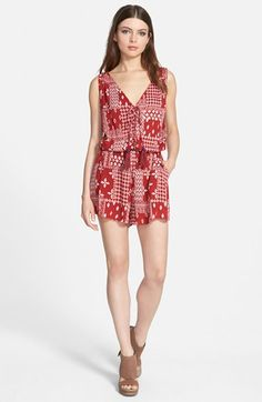 STOREE V-Neck Romper available at #Nordstrom