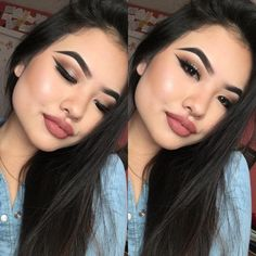 Sunday candy  Simple Glam of the day (excuse the glitter on my lashes lol) used my morphe 350 palette! And it's just amazing !  Products used ✨ Face : Estée Lauder and la girl pro concealers + Mac Soft & Gentle ❤️❤️❤️ Eyes 350 palette and nyc liquid liner Lips : Italia lip liner in Toast and Mac Velvet Teddy ✨
