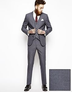 ASOS Slim Fit Suit In Grey Dogstooth Jacket - $164 Pants - $77 ...