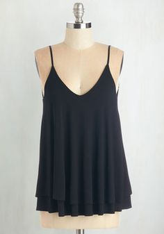 Knit Tops - Let's Tier it for the Poise Top in Black