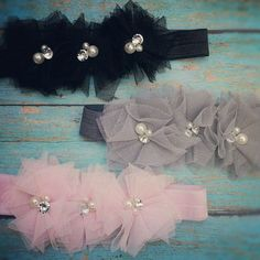 Vintage Tulle Ballerina Inspired Headband with Pearls and Bling for Baby, Toddler, Teen and Adult Girls. $9.95, via Etsy.
