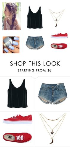 """""""h"""" by zahlia-tibbs on Polyvore featuring MANGO, rag & bone, Vans and Charlotte Russe"""