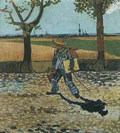 The Painter on his Way to Work by Vincent Van Gogh.  (Destroyed by fire in the Kaiser-Friedrich Museum, Berlin, during World War II)