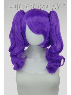 Rhea Lux Purple Pigtail Wig Set