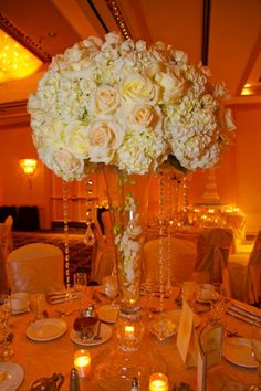 Ivory White Centerpiece Centerpieces Fall Indoor Reception Spring Summer Winter Wedding Flowers Photos & Pictures - WeddingWire.com